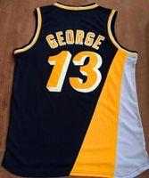 Wholesale 2016 Men s Reggie Miller Jersey Throwback Baasketball Miller Jerseys White Black Yellow Red Paul George Jerseys Retro Sports S
