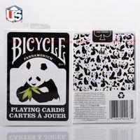 bicycle playing cards black - Bicycle Panda Deck Playing Cards Black and White Poker New Pandamonium Magic Props Magic Tricks Toys