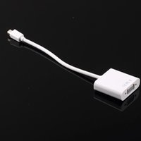 apple ide - In stock Pc Mini DisplayPort Display Port DP To VGA Adapter Cable for Apple for MacBook Mini Adapter Cable White