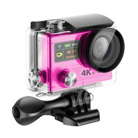Wholesale H8 Ultra K HD inch VR HDMI WIFI Action Cameras Dual Screen Waterproof Sports Camera DV DVR Retail package