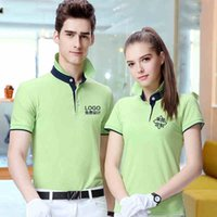 Wholesale 2016 new style golf women custom cotton T shirt polo print logo or text for promotional advertising gift