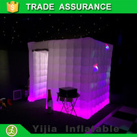 Wholesale custom ft cube best quality cabin tent inflatable photo booth led