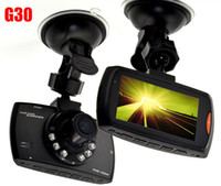 Wholesale car dvd G30 Novatek Car DVR Camera Video Recorder Motion Detection with Degree Full HD P G sensor