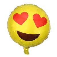 aluminium foil bubble - NEW QQ expression balloon Emoji foil ballon birthday wedding decor inflatable balls Emoticons helium smile Valentine s Day ballonZD129
