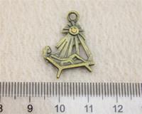 bath antique bronze color - 40Pcs mm Antique Bronze Color Sun bath Charms Zinc Alloy DIY Handmade Jewelry Pendants