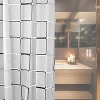 bath accessories black - Black White Grid Print Waterproof Shower Curtains Bath Accessories fabric bathroom shower curtain set