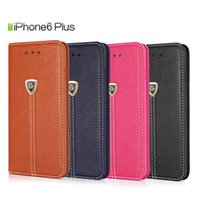 Wholesale PU pure colour leather wallet case Smart cell phone cover cases for Iphone or plus