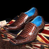 b t design - Quique Design Square Toe Mens T Show Shoes Korean Style Flats Genuine Leather Oxfords Prom Party Shoes Big Size