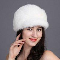 Wholesale Hot sale real mink fur hat for women winter keep warm whole mink cap brand new thick female headgear women s hats