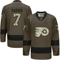 barber green - Philadelphia Flyers Mens Jerseys Bill Barber Army Green Salute to Service Ice Hockey Jersey Fast Shipping