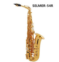 Wholesale Best sellers French Henri Selmer Paris Alto Saxophone E flat electrophoresis gold Saxony Top Musical Instrument