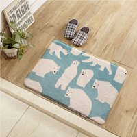 Wholesale Foreign trade Korean alpaca mats cute cartoon home creative foreign trade tread bedroom bedroom living room entrance mat
