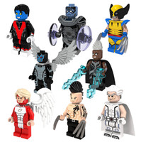 angels toy - 8pcs X Man Super Heroes Minifigures Building Blocks Storm Wolverine Daken Archangle Magneto Angel Nightcrawler figures Kids Toys Bricks