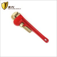 aluminum pipe wrench - 14 quot mm Non sparking Pipe Wrench American type Aluminum bronze Hand Tools Copper Alloy pipe spanner
