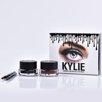 Wholesale Kylie Jenner Eyeliner Gel Waterproof Makeup Eye Liner Gel Cosmetics Make Up Black Brown Colors MR225