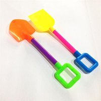 Wholesale Children summer Beach shovel toys ABS material Beach game toy with Mesh bag packaging Beach tools toys