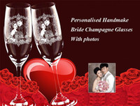 champagne flutes - Personalised Bride Champagne Glasses Personalised Engraved Champagne Flutes set of Mr Mrs Wedding Glassware Handmake as photos