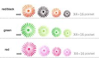 adhesive sunflowers - Acrylic crystal Three dimensional Flowers Sunflowers Wall Stickers Background Wall Entranceway Hallway Home Decoration Mixed Green PVC