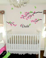 adhesive monograms - Personalized wall decal branch nursery monogram decoration for baby s room DIY Removable wallpaper size x inches
