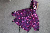 baby camo jacket - Brand Children Spring Camo Shark Head Coat Kids Outdoor Clothes For Boys Baby Boy Girl Windproof Camouflage Jackets Coats