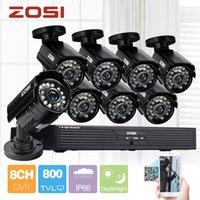 al por mayor sistema de cctv zosi-Sistema de CCTV ZOSI 800TVL 8CH H.264 D1 DVR 8x 1/3 '' CMOS IR CUT sistema de seguridad de vigilancia de cámara al aire libre a prueba de agua