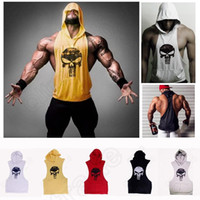 sleeveless hoodie - Mens Stringer Bodybuilding Tank Top fitness vest Solid Gym Cotton Singlet Tanks Fitness Clothes Y Back Tanks sleeveless hoodies