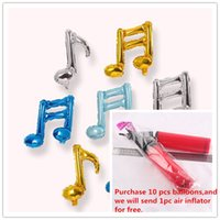 beautiful notes - Beautiful Music Notation Foil Balloons Eighth Note Quaver Sixteenth Note Semiquaver Aluminium Films Balloon Concert Decoration4 color