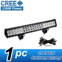beam lumen led - Combo Beam LED Working Lights High Lumen Cool White Rectangle Waterproof W Front and Rear Driving Lights