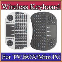 Wholesale 2016 Wireless Keyboard rii i8 keyboards Fly Air Mouse Multi Media Remote Control Touchpad Handheld for TV BOX Android Mini PC B FS
