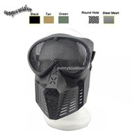 Wholesale Outdoor Airsoft Shooting Face Protection Gear Metal Steel Wire Mesh Full Face Bee Style Tactical Airsoft Mask