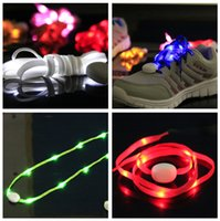 Cheap Newest Led Flashing Shoelaces Luminous Shoelace Nylon Shoe Laces Colorful Light Shoes Accessories for Dancing Party 10pcs=5pairs