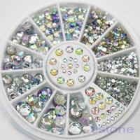 Wholesale 2 mm Flatback Rhinestone Nail Decoration Glitter Clear Strass D Art Charm Phone Decoration Manicure Accessory Wheel PC