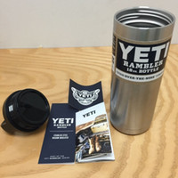 beer cooler sleeve - New Yeti oz Cups Cooler YETI Rambler Tumbler Travel Vehicle Beer Mug Double Wall Bilayer Vacuum