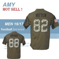 army service uniform - 2016 NWT Cowboys Jason Witten Dez Bryant Salute To Service Stitched Army Green Embroidery Logo Men s America Football Jerseys Uniforms