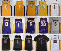 angelo shirts - Newest Jordan Clarkson Jersey Shirt D Angelo D Angelo Russell Nick Young Uniforms Purple Yellow White Julius Randle