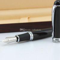 Wholesale Hot Sale JINHAO X750 Lava Black Medium Nib Fountain Pen Silver Trim BI2G E00157 SMAD