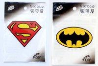 batman patch applique - New Justice League Superhero Superman Batman Classic Series Patch Heat Transfer LOGO Iron On patches Applique Badges stickers Accesso
