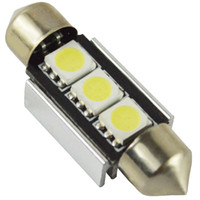 Wholesale 1X License Plate Lights Festoon Canbus smd mm V Canbus C5W For Interior Led Car Bulb Dome light