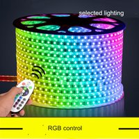 advertisement stand - 60pcs m Leds Strip lamp V110V SMD5050 IP65 Waterproof RGB changeable Led Strip Light for Outdoor Copper stand