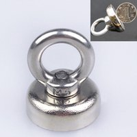 Wholesale 1PC Silver Strong Magnet N52 with Circular Eyebolt Ring Magnets For Salvage Tool mm x mm