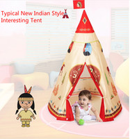 Wholesale 2016 New style Conical Indian Tents Casa Outdoor Toys house Children Game Play House Fairy tales play house party toys cm dream toys