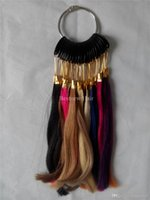 Wholesale 28 Colors set Human Hair Made Color Ring Chart Wheel For Human Hair Extensions