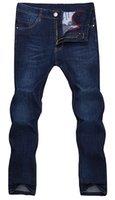 Wholesale 2016 Zmario Men s jeans Casual Dark Blue Denim Mens Pant Trousers Four Season Jeans Original Fit Jean