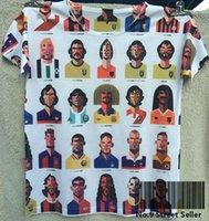 Wholesale Track Ship Summer Fresh Top Tee T shirt My Favorite Football Player Zidane Maradona Ronaldo Bajo