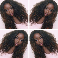 Wholesale Peruvian Human Hair deep curly lace Wigs Lace Front Wigs Human Hair Wigs Density Bleached Knots