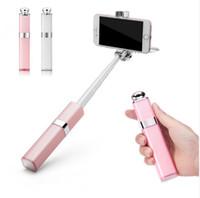 folding stick - Fashion Women Mini Lipstick Wired Selfie Stick Degree Rotation Universal Handheld Portable Extendable Folding Selfie Monopod for phone