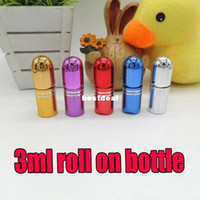 ball metal container - 3ML UV oil bottle perfume bottle ml bottle CC ball on empty bottles roll on cosmetics Container Essential Oil Perfume Tube Travel
