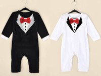 Wholesale 2016 spring and summer new style baby boy gentleman Climb clothes baby s Romoers kids one piece garment children s jumpsuits