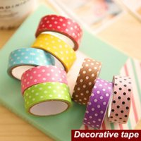 Wholesale 2016 Dots adhesive Decorative tape Wave point masking tapes Scrapbooking sticker school supplies