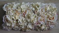 arch tables - champagne simulation silk flower wedding MC table decorations wedding road lead flowers wedding arch flowers
